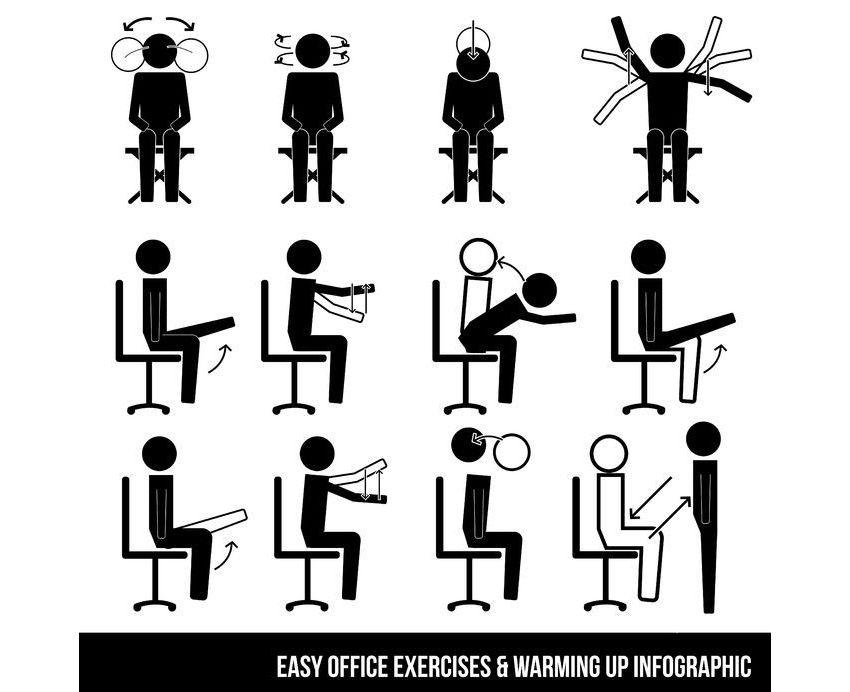 Stoffwechsel: Übungen und Bewegungspausen am Arbeitsplatz - Infos und Tipps auf südostschweizjobs.ch 1
